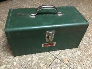 Vintage 16F Park Tombstone Metal Tool Box Toolbox Removable Tray Machinist | USA