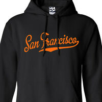 San Francisco Script & Tail HOODIE - Hooded SF Baseball Champions Sweatshirt
