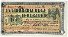 1914 MEXICO TESORIA DE LA FEDERACION 10 CENTAVOS, UNC