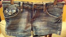 YMI FROM THE CITY OF ANGELS- WOMENS DENIM SHORTS- SIZE 5