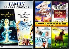 The NEVERENDING STORY 1+2+3 TRILOGY + 3 FAMILY ADVENTURE MOVIES DVD R1