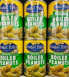 6 Cans Peanut Patch Original Boiled Peanuts 13.5oz ~ FAST FREE EXPEDITED SHIP !