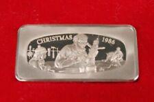 Christmas 1986 Franklin Mint Sterling 1000 Grains Bar, Santas Workshop