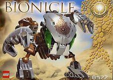 Lego 8577 Bionicle Mata Nui Bohrok Kal Pahrak-Kal complet de 2003 manq rubber