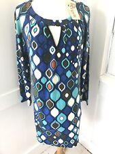 NEW NWT ARYEH Geometric Print Sweater Dress Size M Retail $89