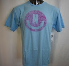 Neff Mens Neon Blue Heather Smile Tee Shirt NWT L