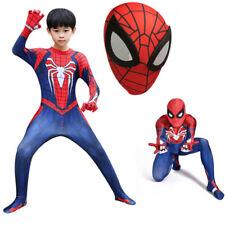 Kids /Adult  Ps4 Game Spider-Man Superhero Halloween Cosplay Costume Jumpsuit