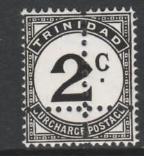 TRINIDAD 3905 - 1923 POSTAGE DUE 2c DOUBLE  PERFS  u/m (Forgery)
