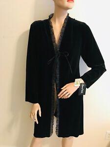 NEW Ronni Nicole Velour Evening Coat Ladies Size XL