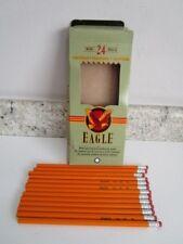 13 Vintage Berol Eagle Yellow #2 Pencils in original Box - Unsharpened - 1993