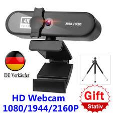Full HD Webcam AUTO FOCUS 1/2/4K Webkamera mit Stativ Camcorder für Meeting DE