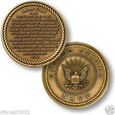 NEW U.S. Navy Sailors Creed Challenge Coin. 15011.