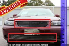 GTG 2000 - 2003 Chevy Malibu 2PC Polished Replacement Combo Billet Grille Kit