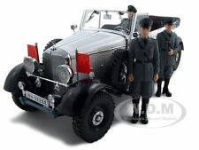 1938 MERCEDES G4 WITH 3 FIGURES WHITE 1/18 BY SIGNATURE MODELS 38202