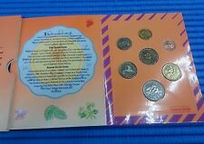 1992 Singapore Lunar Year of Monkey Uncirculated Coin Set (1¢ - $5 Coin)