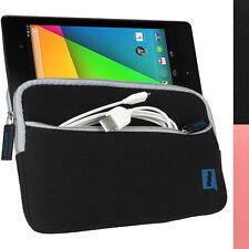 Schwarz Neopren Tasche Hülle Case für Neue Google Nexus 7 FHD 2. Gen (Aug 2013)