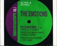 "THE EMOTIONS flowers wizdum 7"" remixoriginal version 656360 7 uk cbs 7"" PS EX/E"