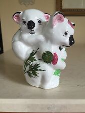 Vintage PLICHTA London ENGLAND KOALA  BEARS Mother Baby Hand Painted