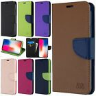 For Apple iPhone XR Premium Leather 2 Tone Wallet Case Pouch Flip Cover