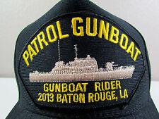 US Navy Patrol Gunboat Rider 2013 Baton Rouge Adjustable Military Baseball Cap