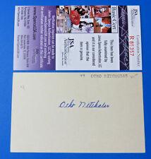 OTHO NITCHOLAS SIGNED 3x5 INDEX CARD ~ BROOKLYN DODGERS / WHITE SOX ~ JSA R85357