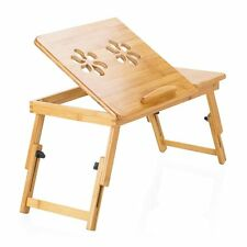 Portable Bamboo Laptop Notebook Computer Desk Bed Tray Stand Foldable Table