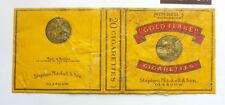 OLD VINTAGE BELGIUM CIGARETTE - TOBACCO PACKET LABEL. GOLD FLAKE