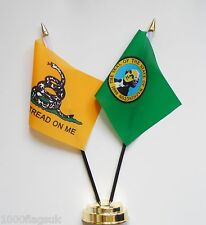 Gadsden & Washington Double Friendship Table Flag Set