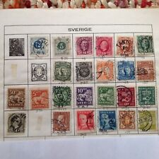 Used Swedish Stamps - 24 of Mixed - 1877 to 1930