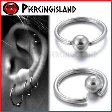 316L Steel Captive Ball Closure Ring Ear Nose Lip Nipple Hoop Earring Piercing