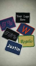 Mechanics Name Patch, Canvas iron on or sew on custom embroidered small business