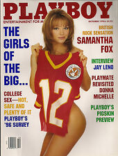 PLAYBOY OCTOBER 1996-F - NADINE CHANZ - JAY LENO - SAMANTHA FOX NUDE !!!