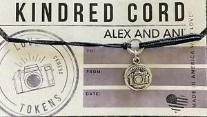 Alex and Ani CAMERA Pull Cord Bracelet Black PHOTOGRAPHY PHOTO BRAND NEW 📷