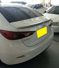 REAR TRUNK SPOILER ABS FOR MAZDA 3 2014-2015 SEDAN (4D) UNPAINTED