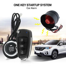 Remote Car Keyless Entry Start Stop Engine Alarm System Push Button Starter 12V