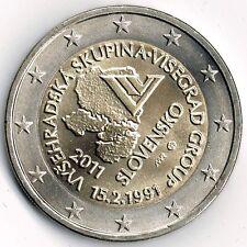 Slowakei 2011 2€ 20. Jahrestag der Gründung der Visegrád-Gruppe  unz +gekapselt.