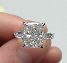 Wedding Ring 925 Sterling Silver Radiant Moissanite 4Ct White Engagement