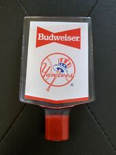 1980's Bud Budweiser Bowtie Tap Handle New York Yankees Logo