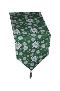 Daisy table runner pure Cotton 2 meters long made in the UK