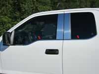 4PC Stainless Steel Window Sill Trim Set - WS55302 For FORD F-150 2015-2019