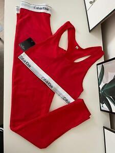 Calvin Klein Woman Underwear Women's Sports Bra Underwear Bralette+legging Set