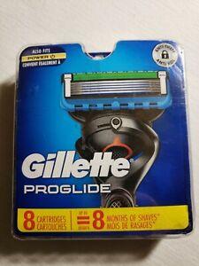 Gillette Proglide Power Razor Blades Blue Pack 8 Cartridges Free Shipping