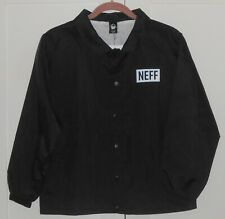 Boy'S Neff Black Windbreaker Long Sleeve Jacket - Size Large