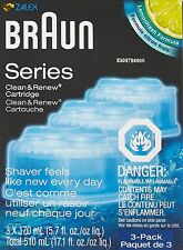 Braun Clean Renew Replacement Cartridge Refill Shaver 3 Pack Genuine Solution