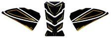 Depósito y Almohadilla de Tanque Lateral 3D 5022001 Oro Stripe Negro para Yamaha