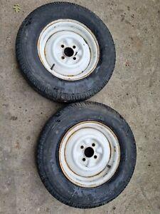 Caravan spare Steel wheel & tyre; 175 R13, 4 Stud *Tyres need replacing*