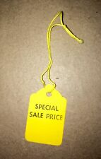 100 'SPECIAL SALE PRICE' Yellow Hanging Tags STRUNG