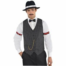 Gangster Al Capone Vest Waistcoat Roaring 20's 1920s Mens Fancy Dress Costume