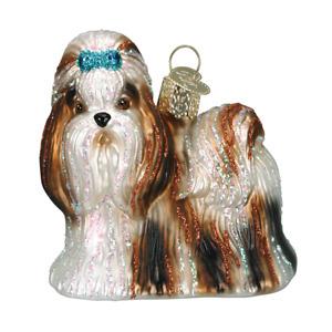Old World Christmas SHIH TZU Dog (12172)N Glass Ornament w/ OWC Box