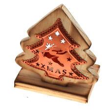 """Teelichthalter aus Holz & Kupfer """"Tanne"""" Dekoration Weihnachten Tisch Teelicht"""